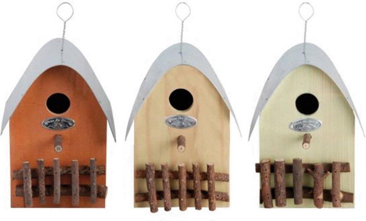 Esschert Design Vogelhuisje - Assorti - 18 x 14 x 21 cm