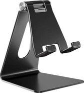 Jocam Universele bureau Gsm Houder - Telefoon houder - smartphone houder - Tablet - Steun - Instelbaar - Tafelhouder - Zwart