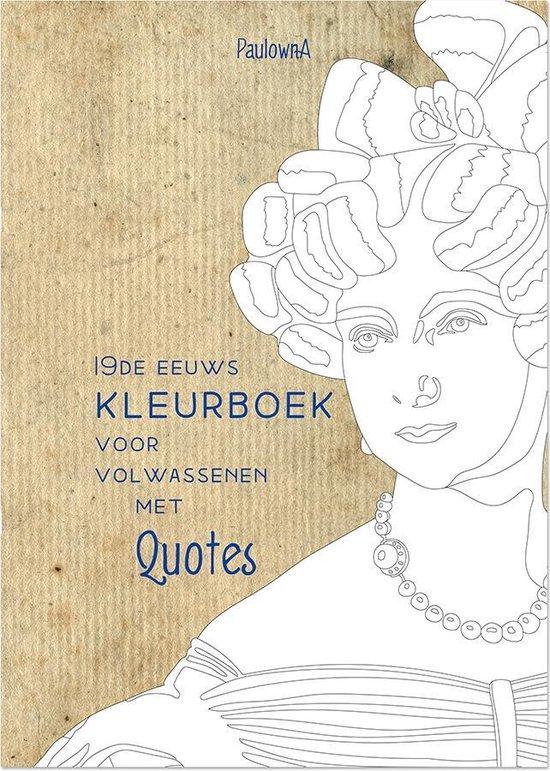 19de eeuws kleurboek voor volwassenen met quotes | leuk alternatief voor het mandala kleurboek | Victorian style Adult colouring book | mooi kleurboek voor volwassen | A4