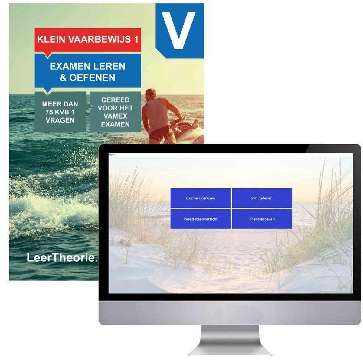 KleinVaarbewijs 1 Theorieboek met Online Examens oefenen - Cursusboek Vaarbewijs KVB 1   Pleziervaar