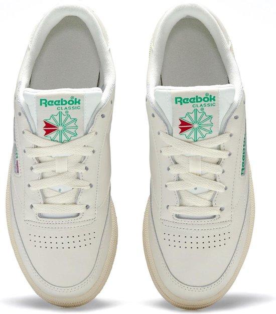 Reebok Club C 85 Sneakers - Maat 38.5 - Vrouwen - crème/groen CQhlLGJd