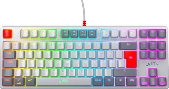 Xtrfy K4 TKL – Mechanisch Gaming toetsenbord met RGB US Layout – Retro Edition