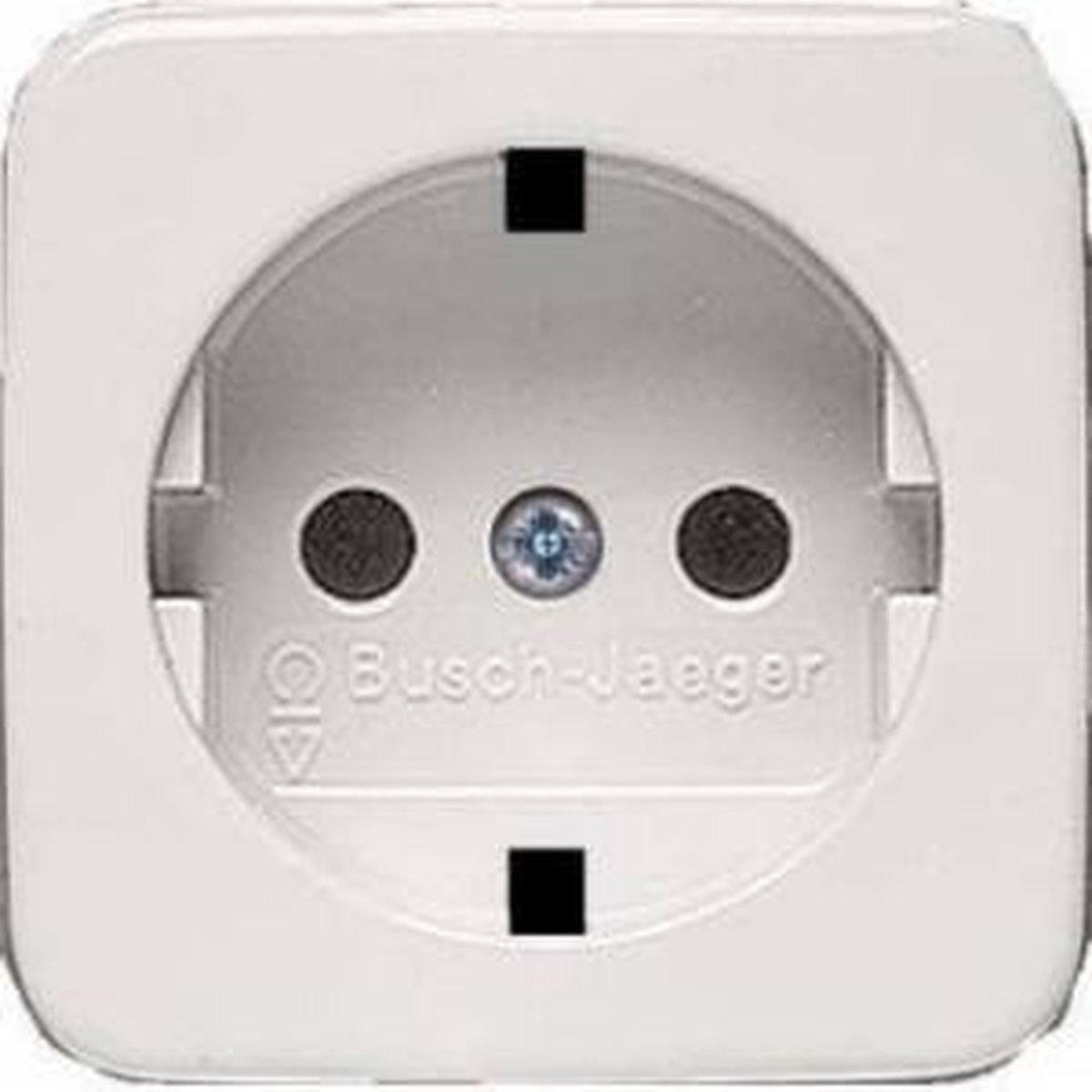 Busch-Jaeger Reflex SI centraalplaat voor wandcontactdoos met randaarde, wit