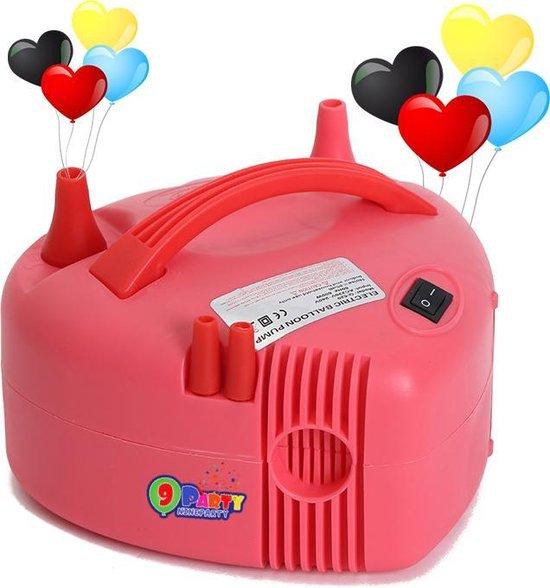 9ineParty - Krachtige - Hart Vormige - Snelle- Elektrische Ballonenpomp - Dubbele Vultuiten - Roze 220 V - 600 W - Elektrische Ballon Pomp - Voor Decoratie - Feest - Party - Verjaardag - Versiering - Trouwerij