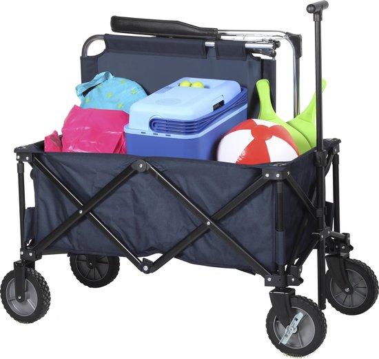 Campart Travel HC-0910 Opvouwbare bolderwagen – 70 kg draagvermogen – Blauw