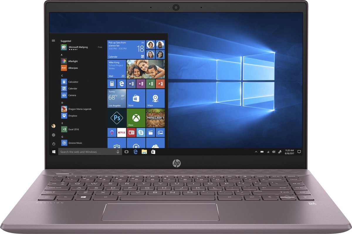 "HP Pavilion 14-ce3645nd DDR4-SDRAM Notebook 35,6 cm (14"") 1920 x 1080 Pixels Intel® 10de generatie Core™ i7 8 GB 512 GB SSD NVIDIA® GeForce® MX250 Wi-Fi 5 (802.11ac) Windows 10 Home Paars"