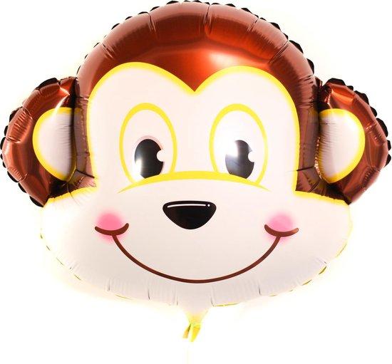Jungle decoratie ballon Aap grote folieballon voor dieren feestje, verjaardag of cadeau / vul met lucht of helium