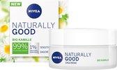 Nivea Naturally Good Dagcrème gevoelige huid - 50 ml - met bio kamille