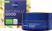 NIVEA Naturally Good Nachtcrème - 50 ml - met bio arganolie