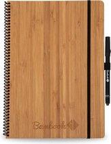 Bambook Hardcover A4 formaat - Lijn - Bamboe - met stift