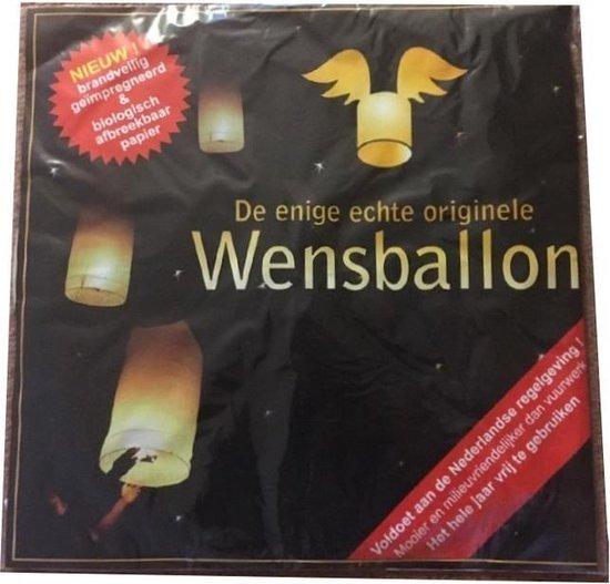 5x Luxe witte wensballon - XL 50 x 100 cm - bestaan uit 1 deel