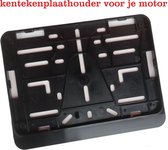 Kentekenplaathouder voor Motor met Tekstrand - 21 x 14,3 cm - Premium Quality