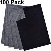 100 vellen zwart carbon papier A4 - overtrek papier per 100 - transferpapier voor hout, canvas, papier en andere media
