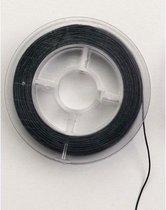 Stretchy cord 0,5 mm. 8,1 mtr. zwart