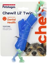 Petstages Orka Chewit Lil' Twig - Hondenspeelgoed - 21x4.5x1.5 cm 120 g Mintgroen Blauw