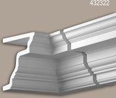 Binnenhoek Profhome 432322 Exterieur lijstwerk Hoeken voor Wandlijsten Gevelelement tijdeloos klassieke stijl wit