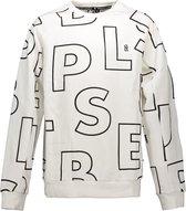 SuperRebel Jongens interlock sweater - AO text white - Maat 140
