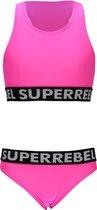 SuperRebel Meisjes bikini - Sugar Pink - Maat 140