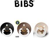 BIBS fopspenen maat 2  - Glow in the dark 6-18 maanden (Black, Dark oak en Vanilla)