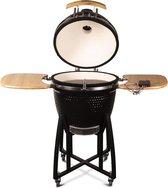 "Patton - Kamado 21"" - Premium Black - Keramische barbecue - incl. Bluetooth  kerntemperatuurmeter - LED verlichting - Large - Compleet - Zwart"