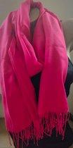 Dames effen kleur sjaal roze