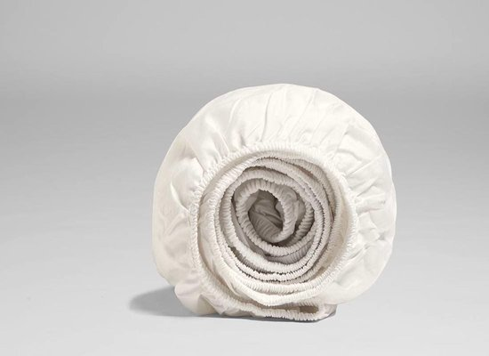 Yumeko Hoeslaken katoen satijn wit 180x200x30