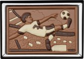 Weible Chocolade voetballer in giftbox - 8 x 12 cm