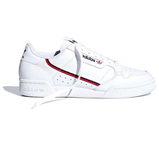 adidas Continental 80 Heren Sneakers - Cloud White/Scarlet/Collegiate Navy  - Maat 44