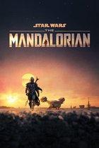 Star Wars Mandalorian poster dusk Disney tv serie  61x91.5cm.