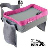 CabinMax Reistafel - Playtray voor Onderweg - Speeltafel voor Auto en Vliegtuig - Roze (play gy/pk)