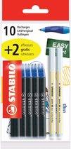 Vullingen STABILO EASYoriginal - Medium - pack 10 stuks + 2 GRATIS uitwissers