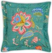 Pip Studio sierkussen Jambo Flower green 45×45 -