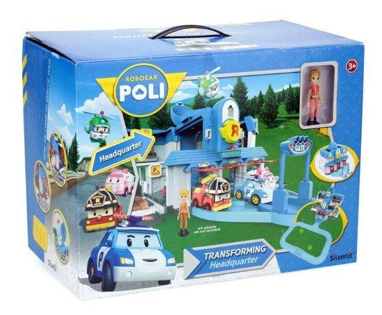 Robocar Poli Transformerend Hoofdkwartier - Speelset