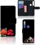 Motorola One Action Wallet Case met Pasjes Sports