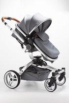 Blij'r Stef 2 in 1 Luxe kinderwagen - 360 graden draaibaar - incl autostoel connector