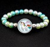 Eenhoorn armbandje - Unicorn Armband - Eenhoorn armband - Eenhoorn bedelarmband - Groen/Blauw
