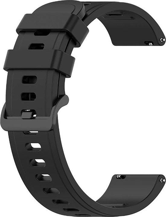Horlogeband van Siliconen voor Shinola   22 mm   Horloge Band - Horlogebandjes   Zwart