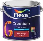 Flexa Creations - Muurverf Zijde Mat - Mengkleuren Collectie - 100% Kers  - 2,5 liter