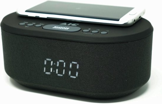 AIC 18BT - Digitale wekkerradio - Met Wireless Charger - USB - Bluetooth Wekker Met Dual Alarm