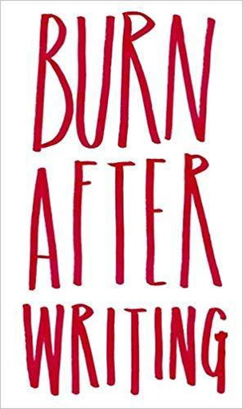 Boek cover Burn After Writing van Sharon Jones (Onbekend)