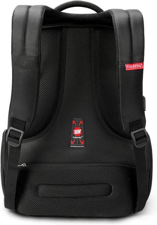 Tigernu Daily - laptop rugzak - anti diefstal - t/m 15,6 inch - schooltas - waterafstotend - zwart
