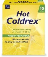 Hot Coldrex - Bij griep en verkoudheid - 10 sachets