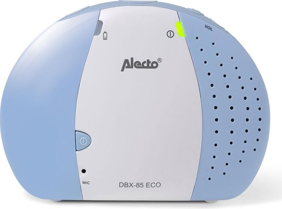 Alecto DBX-85 ECO Dect Babyfoon - Wit/Blauw