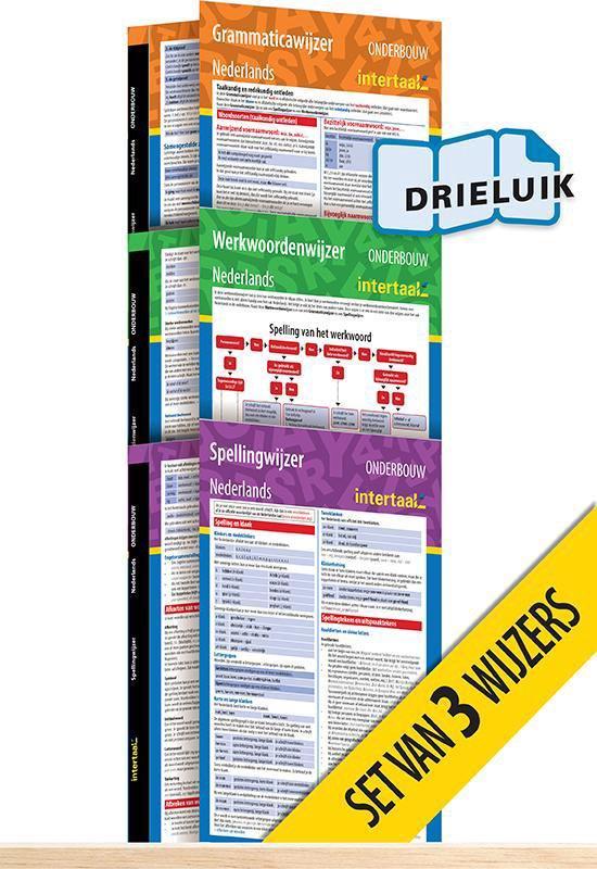 Onderbouwwijzers Nederlands (pakket van 3) uitklapkaarten - Groenman |