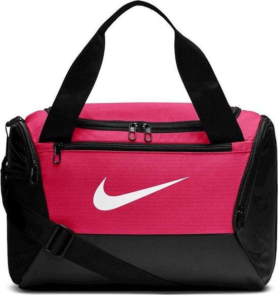 Nike  Brsla Xs Duff  9.0 Unisex Sporttas - Rush Pink/Black/(White)