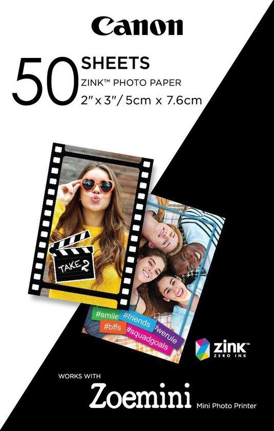 Afbeelding van Canon ZINK Zelfklevend Fotopapier - Pak van 50 sheets