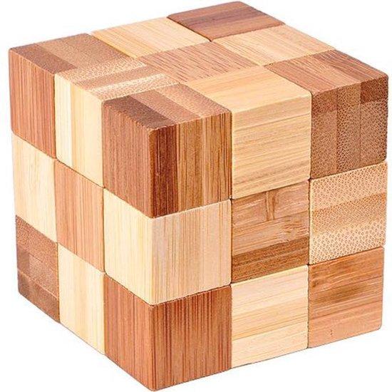 Afbeelding van het spel DW4Trading® 3D bamboo puzzel kubus 1