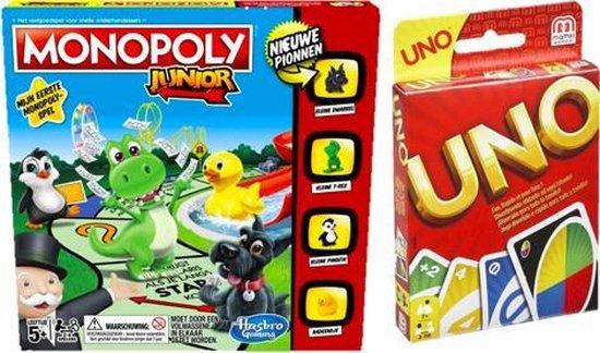 Afbeelding van het spel Spelvoordeelset Monopoly Junior & Uno