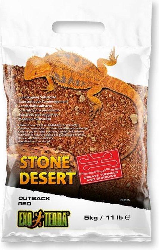 EX stone desert substraat outback red 10kg rood