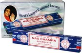Wierook Satya Nag Champa - Agarbatti klassiek staafjes (12x15gram)